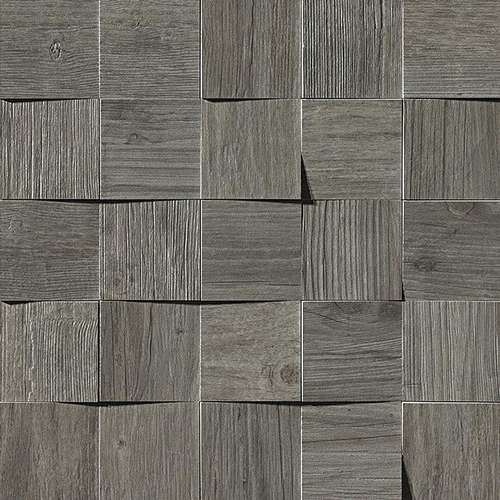 Фото плитки Axi Grey Timber Mosaico 3D, размер 35x35