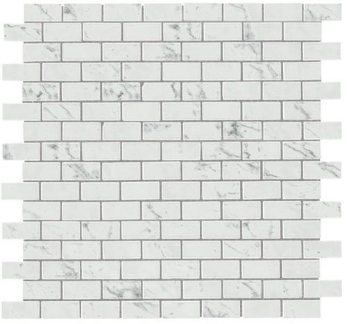 Фото плитки Marvel Carrara P. Mosaico Lapp. Burattato (AS34), размер 29,8X29,8